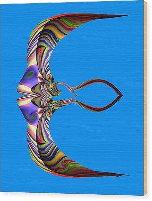 The Rare Mirror Fish Wood Print by Visual Artist  Frank Bonilla