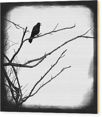 The Raven Wood Print by Penny Hunt