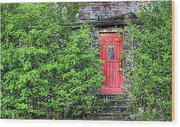The Red Door Wood Print by JC Findley