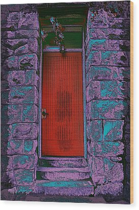 The Red Door Wood Print by Tim Allen