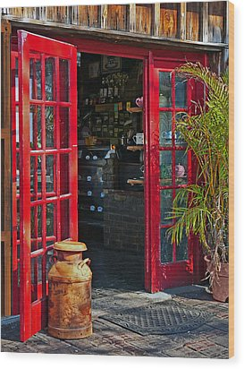 Wood Print featuring the photograph The Red Doors by Judy  Johnson