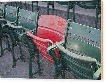 The Red Seat Wood Print by Joseph Maldonado
