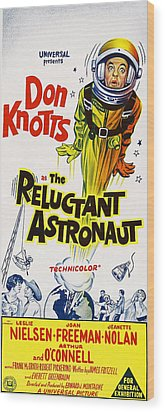 The Reluctant Astronaut, Upper Right Wood Print by Everett