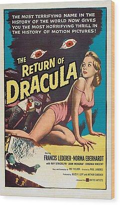 The Return Of Dracula, Francis Lederer Wood Print by Everett