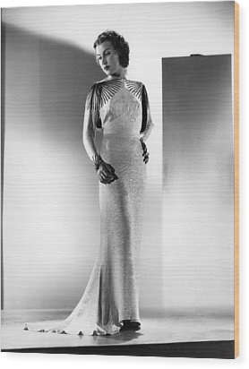 The Richest Girl In The World, Fay Wood Print by Everett