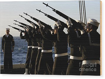 The Rifle Detail Aboard Wood Print by Stocktrek Images