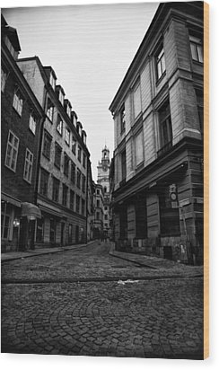 The Right Way Stockholm Wood Print by Stelios Kleanthous