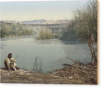 The River Jordan, Holy Land, Jordan Wood Print by Everett