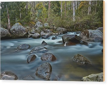 The River Wild Wood Print by Mark Lucey