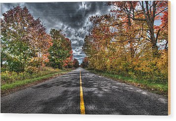 The Road Less Travelled Wood Print by Jeff Smith