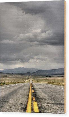 The Road Wood Print by Stellina Giannitsi