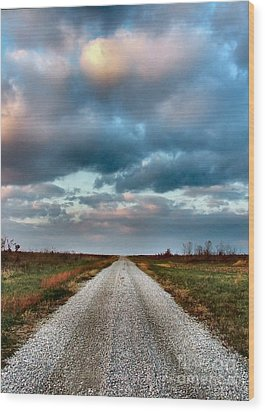 The Road To Somewhere Wood Print by Julie Dant