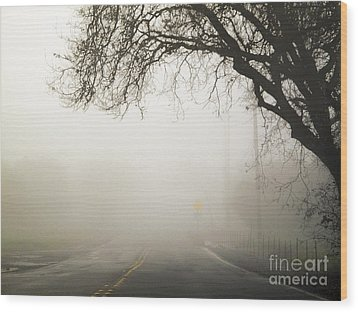 Wood Print featuring the photograph The Road To Work by Leslie Hunziker