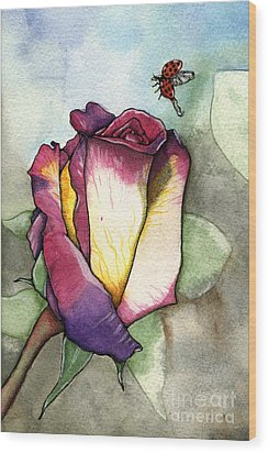 The Rose Wood Print by Nora Blansett