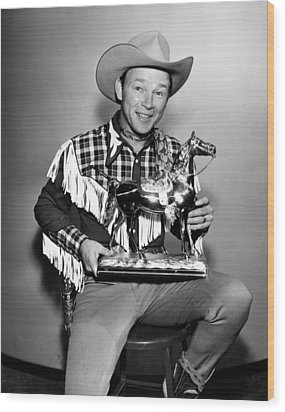 The Roy Rogers Show, Roy Rogers Wood Print by Everett