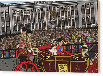 The Royal Wedding  Wood Print by Karen Elzinga
