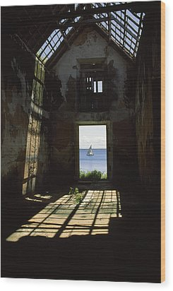 The Ruin Of A Slave Warehouse Dating Wood Print by James L. Stanfield