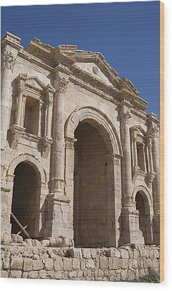 The Ruins Of The Ancient City Of Jerash Wood Print by Taylor S. Kennedy