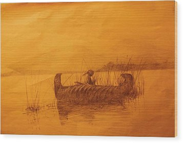 The Rush Gatherer Wood Print by Ronald Gillis