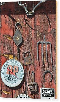 The Rusty Barn - Farm Art Wood Print by Paul Ward