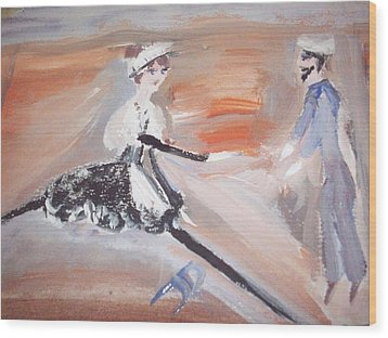 The Sailor And The French Maid Wood Print by Judith Desrosiers