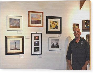 The Salon Exhibit 2 Wood Print by Artie Wallace