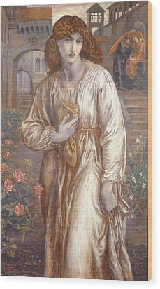 The Salutation  Wood Print by Dante Charles Gabriel Rossetti