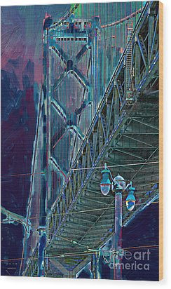 The San Francisco Oakland Bay Bridge Wood Print by Wingsdomain Art and Photography