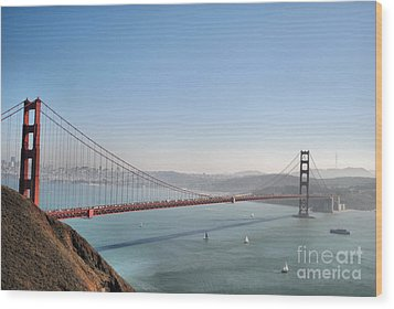 The Sausalito Side Of The Bay Wood Print