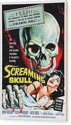 The Screaming Skull, 1958 Wood Print by Everett