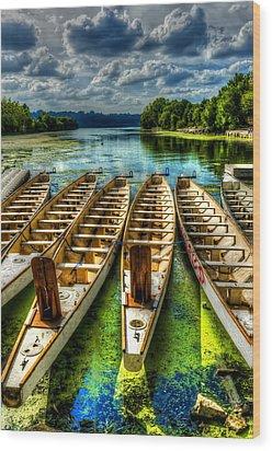 The Sea Awaits Wood Print by Sarah Hauck