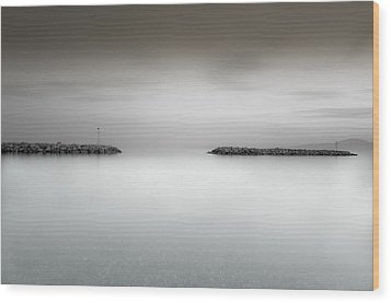 The Sea Between Us Wood Print by Stavros Argyropoulos