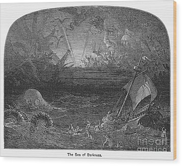 The Sea Of Darkness Wood Print by Granger