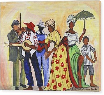 The Second Line Wood Print