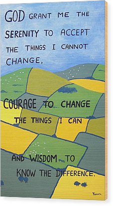 The Serenity Prayer Wood Print by Eamon Reilly