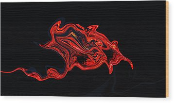 The Serpent Rose Wood Print by James Mancini Heath