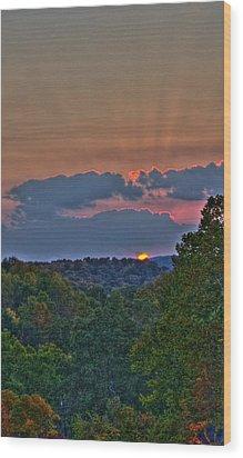 The Setting Sun Wood Print by Shirley Tinkham