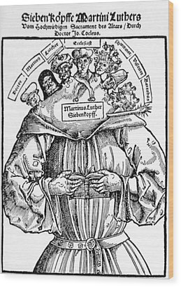 The Seven Heads Of Martin Luther Wood Print by Everett