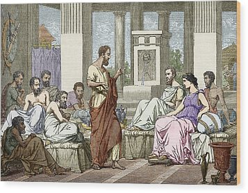 The Seven Sages Of Greece, 7th Century Bc Wood Print by Sheila Terry