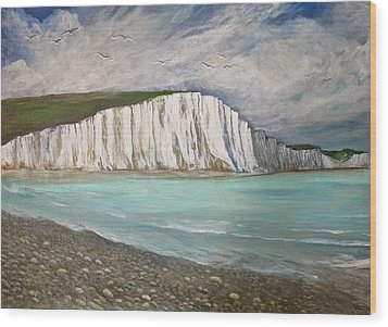 The Seven Sisters Wood Print by Heather Matthews