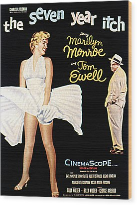 The Seven Year Itch, The, Marilyn Wood Print by Everett