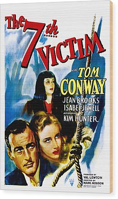 The Seventh Victim, Tom Conway, Kim Wood Print by Everett