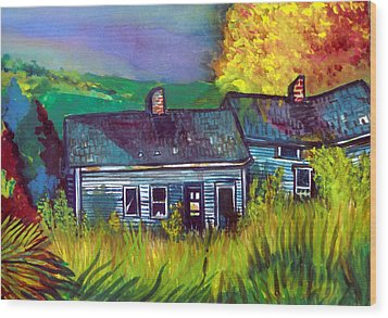 The Shack Wood Print by Mindy Newman