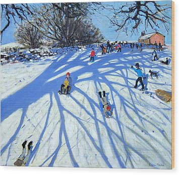The Shadow Derbyshire Wood Print by Andrew Macara