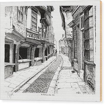 The Shambles  York England Wood Print by John Simlett