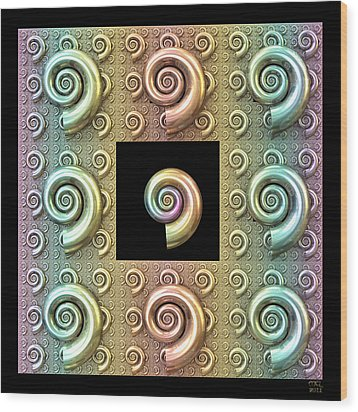 Wood Print featuring the digital art The Shell by Manny Lorenzo
