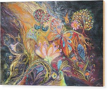 The Shining Of The Orange Tree Wood Print by Elena Kotliarker