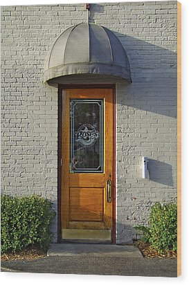 The Side Door Wood Print