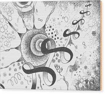The Silent Dance Of The Particles Wood Print by Helena Tiainen