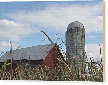 Wood Print featuring the photograph The Silo by Denise Pohl